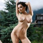 Пошлые картинки фигуристой девушки Жени с большой натуральной грудью